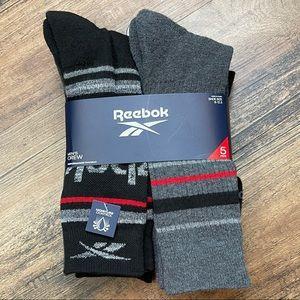 NWT REEBOK Crew Performance Training Socks 6-12.5